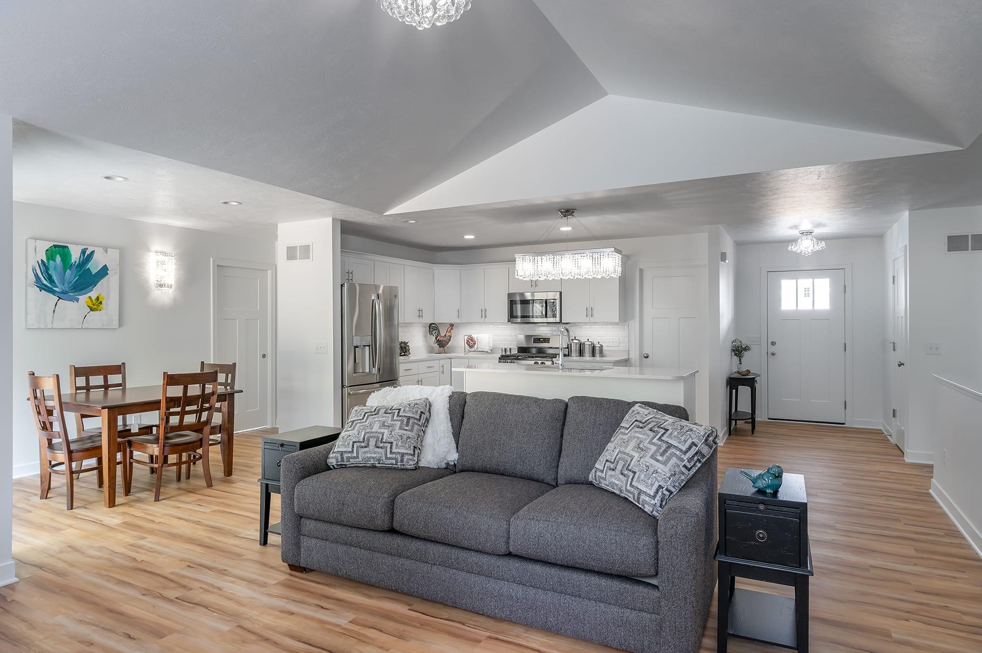 martz homebuilders new living room in new house