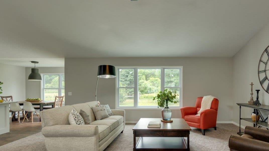 living room in new martz homebuilders house